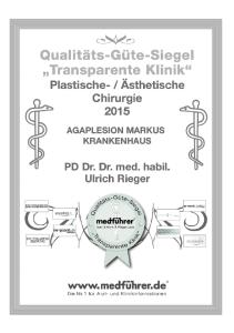 Siegel Transparente Klinik