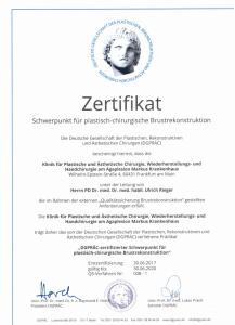 Zertifikat Rekonstr. BZ