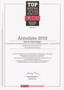 Focus Top Mediziner Rieger 2018